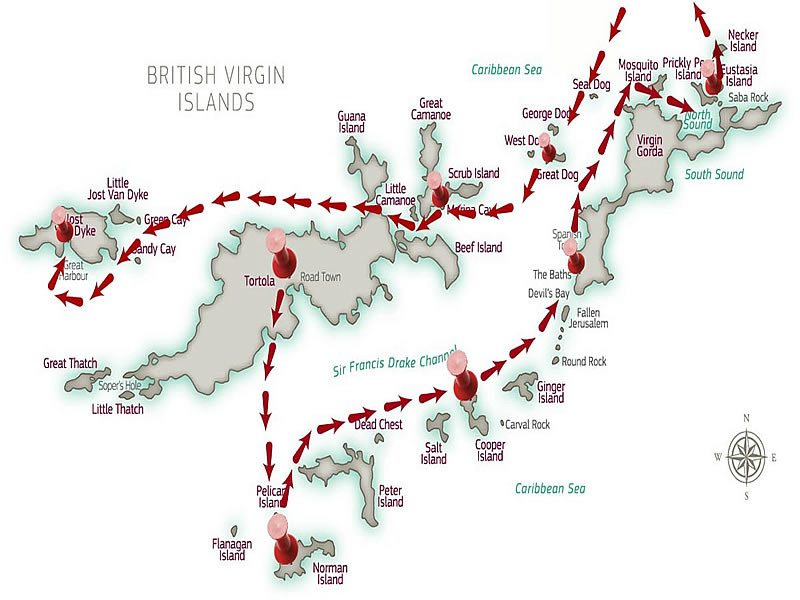 Guide to island hopping in the BVI Carol Kent Yacht Charters