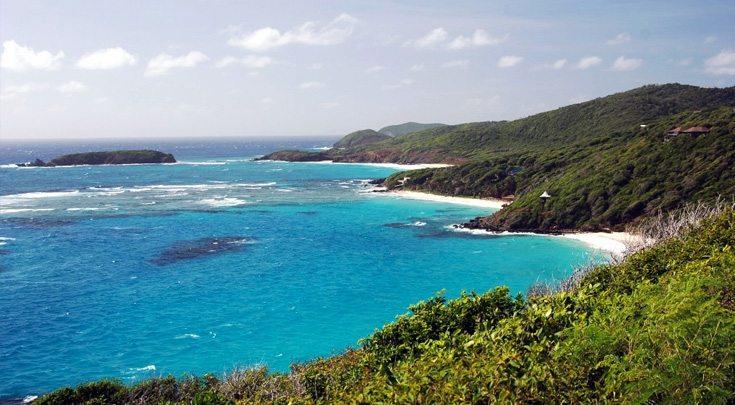 Coastline of St. Vincent Windward Islands