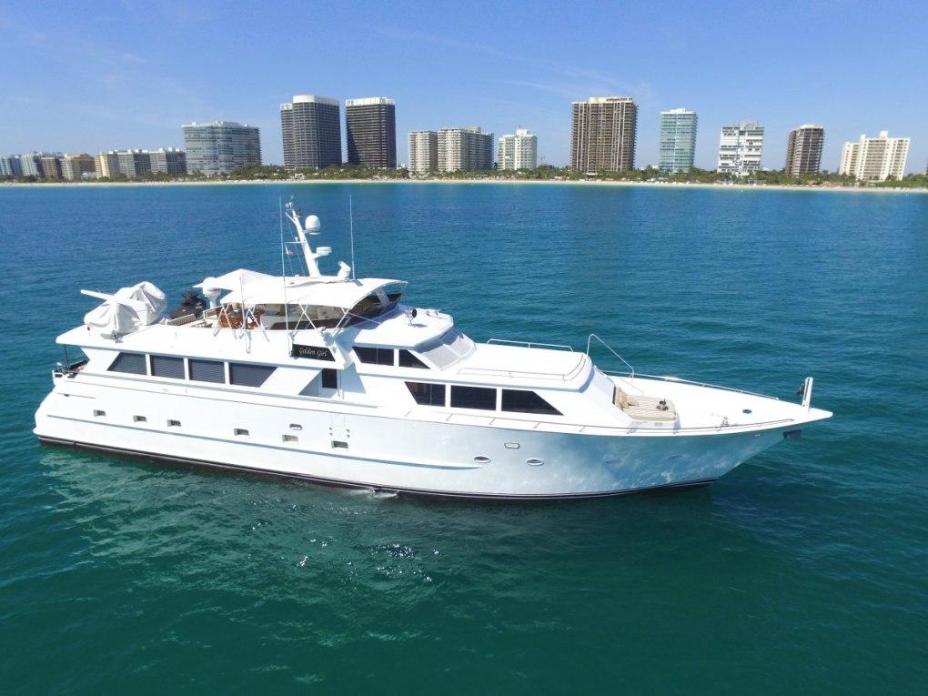 Main shot of luxury motor yacht GOLDEN GIRL