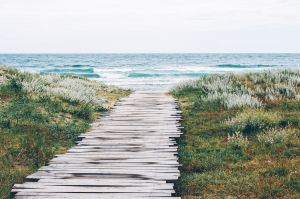 Wooden walk to one of Nantucket's beautiful beaches Nantucket getaways by land and sea