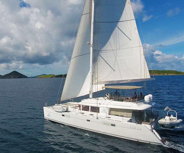 Main shot of 56ft sailing yacht Lagoon catamaran PLAYTIME
