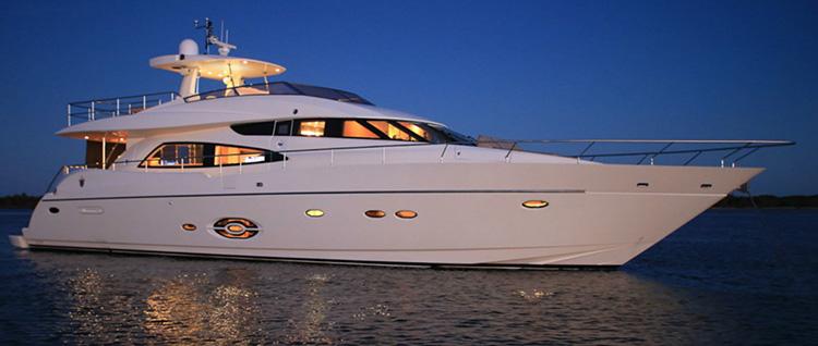 Main shot of 85 foot motor yacht SOPHIA