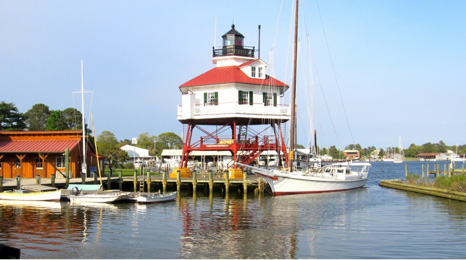 Drum point lighthouse at Solomon Island, Maryland