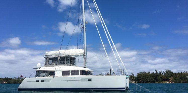 Main shot of 56ft Lagoon catamaran sailing yacht STERLING
