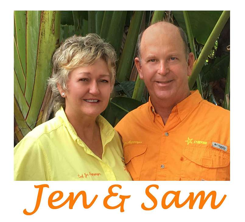 Profile photo of Captain Sam and Chef/Hostess Jen Ausburger of the 46ft S/Y STARFISH