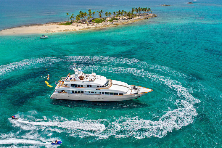 132ft Trident motor yacht M4 operates in the Caribbean and the east coast of the U.S.
