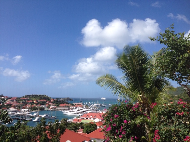 Harbor view on St. Barths coast in the Caribbean
