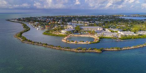 Hawk's Cay Resort aerial view on Duck Key, Florida