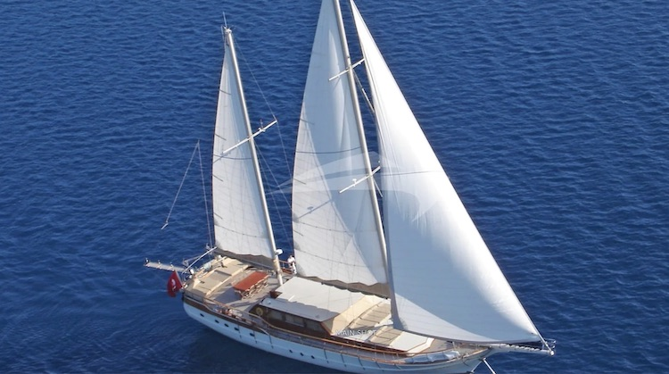 98ft Yener motor sailer AEGEAN SHATZ operates in Greece