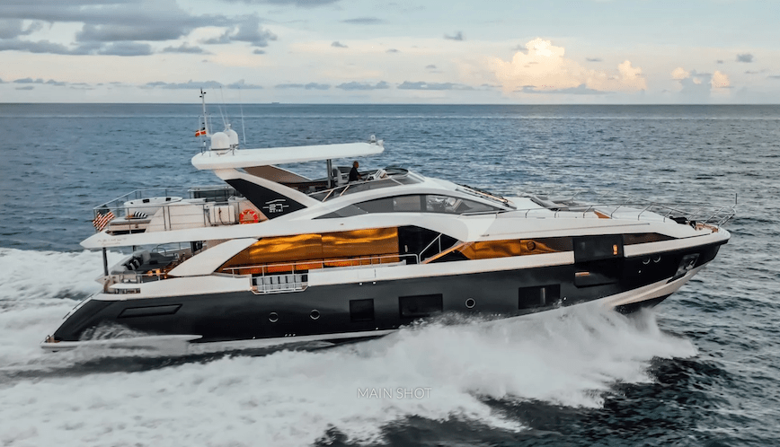 88ft Azimut motor yacht MAJESTIC MOMENTS operates in the Caribbean and New England