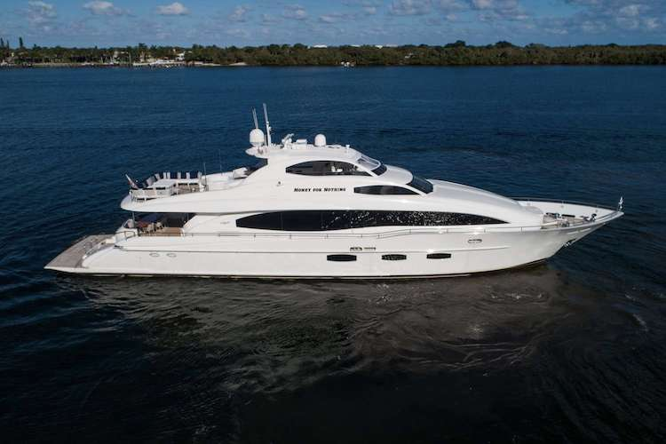 116ft Lazzara motor yacht MONEY FOR NOTHING operates in Florida, the Bahamas and New England and based in New York