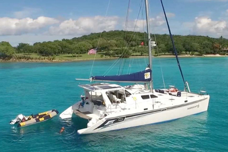 50ft St. Francis sailing catamaran PARADIGM SHIFT operates in the Caribbean and Sag Harbor, NY