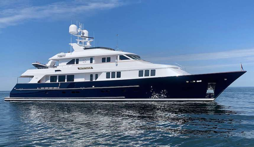 127ft Burger motor yacht IMPETUOUS operates in the Bahamas, the Caribbean and New England