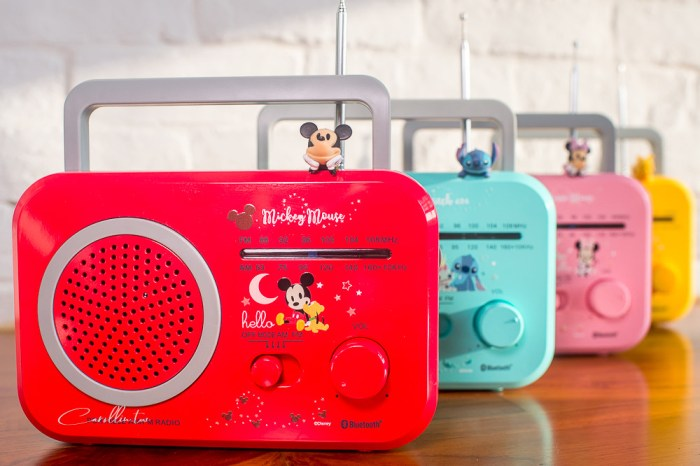 DeltaPro 復古藍芽喇叭開箱   Disney 迪士尼正版授權系列 – 4款可愛造型 身兼廣播收音機
