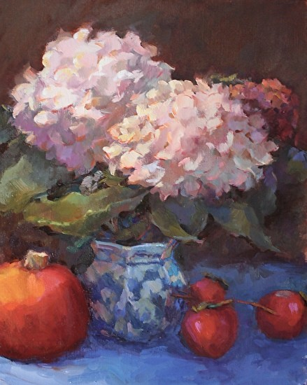 hydrangeas-with-pumpkin-and-persimmons