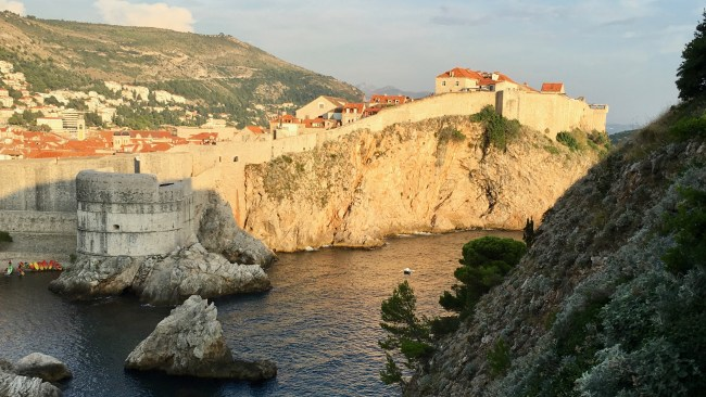 The 16th century walls of Dubrovnik.