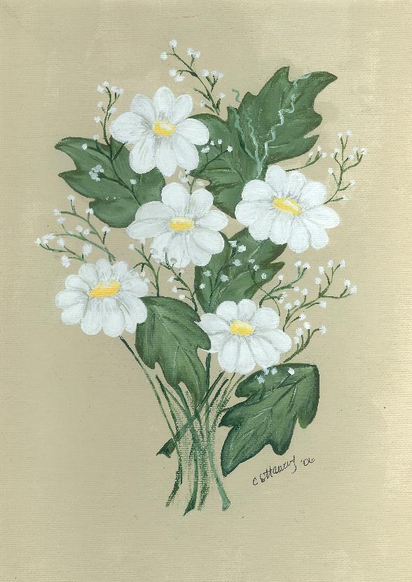 daisy-in-acrylic