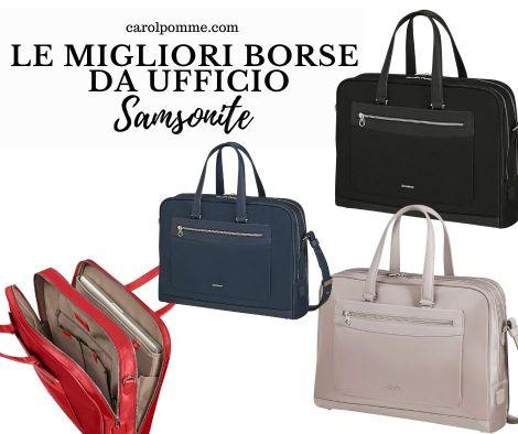 Il modello Zalia 2.0 di Samsonite: una borsa da ufficio elegante e capiente.