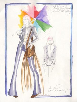 10_Isabel with umbrella illustration