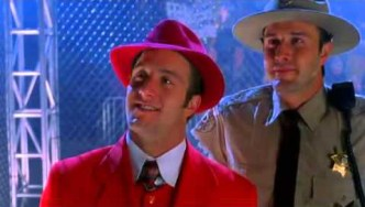 Scott Caan in red suit