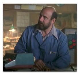 *Jeffrey Tambour in work jacket