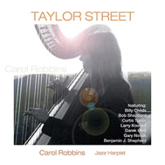 photo of Carol Robbins on Taylor Street CD art