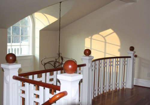 Balcony railing and barrel vault dormer