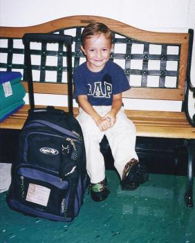 Jacob's first day of k-5