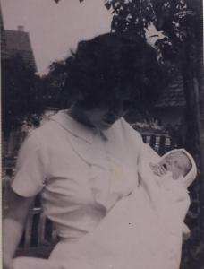Mama holding me shortly after I was born