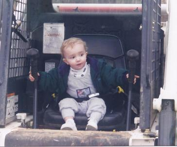 Jacob in John's Bobcat