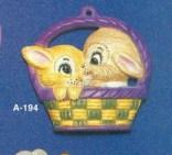 Alberta Ornaments 0194 two bunnies in basket