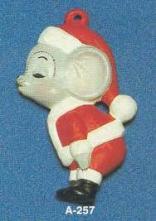 Alberta Ornaments 0257 Kissing Santa Mouse