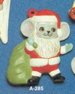 Alberta Ornaments 0285 Santa mouse with bag