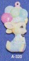 Alberta Ornaments 0320 bunny with big hat