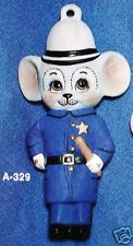 Alberta Ornaments 0329 policeman mouse