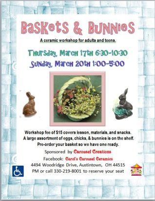 baskets & bunnies 3-17 & 3-20-16