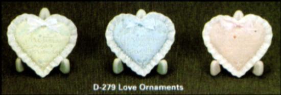 Dona 0279 Musical Heart Christmas Ornaments