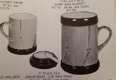 Fres-O-Lone 12 & 12a Drum mug with lid ashtray