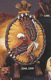 Kimple 2359 eagle dancer shield painted