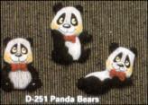 dona 0251 panda bear magnets