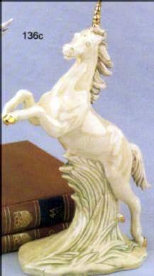 """Duncan 0136 WILD MUSTANG REARING OR PEGASUS 10"""" (shown as unicorn)"""