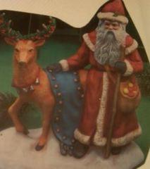 Provincial 0893 Santa with standing Reindeer