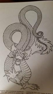dragon drawing Chinese