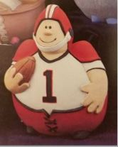 Gare 1351 Roly-Poly Football Player