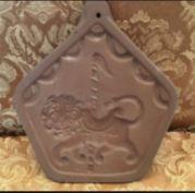 Hartstone Pottery Carousel Lion cookie mold