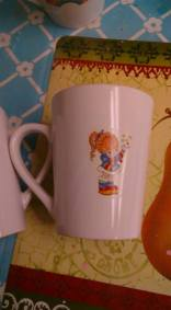 little girl cup decal