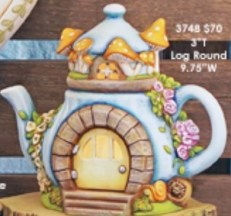 Clay Magic 3951 Charming Teapot Fairy Cottage