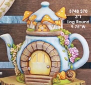 Clay Magic 3951 Charming Teapot Fairy Cottage