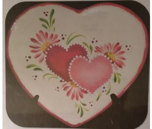 CLUB DAVID 1404 Hearts and Daisies with Stencils