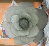Jims cabbage rose clay flower